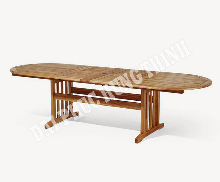 Stockholm ext oval table 290-250-210x100cm, 75h