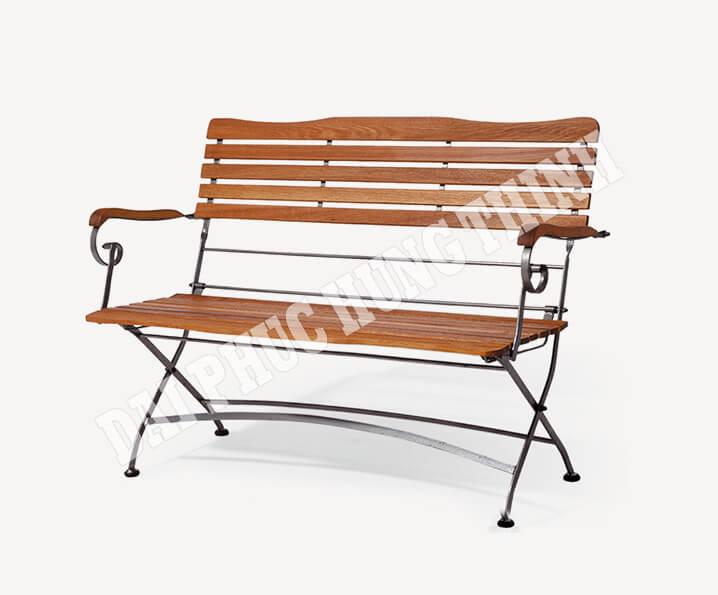 Barolo foldable 2 seater bench