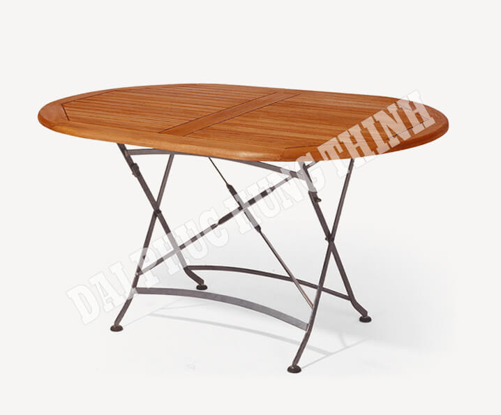 Barolo folding oval table 140x90cm, 75h