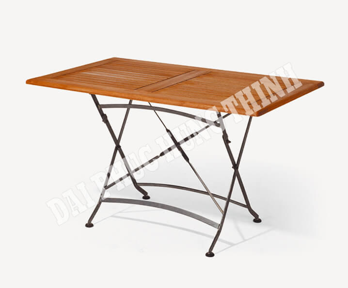 Barolo folding rect. table 125x75cm, 75h