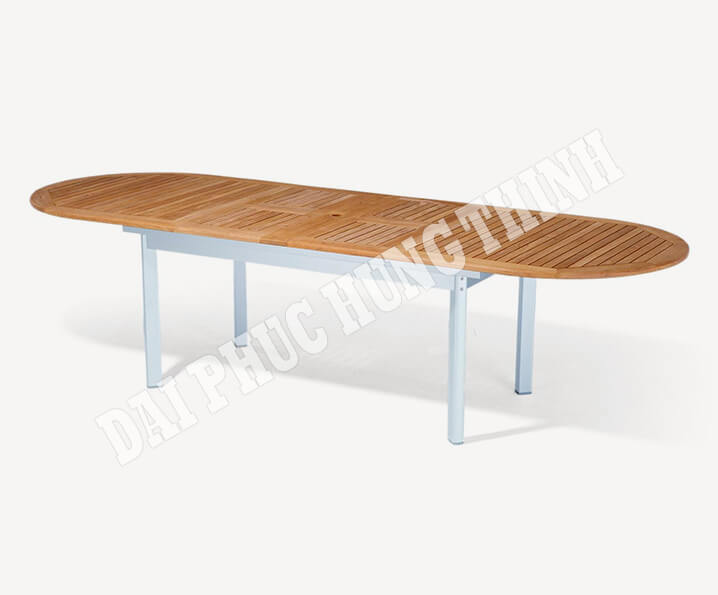 Benfica ext. oval table 290-250-210x100cm, 75h